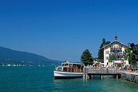 Rottach-Egern excursion boat, Tegernsee Lake, Bavaria, Germany