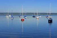 sailboats on lake Ammersee, Germany, Bavaria, Oberbayern, Upper Bavaria