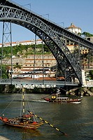 Porto  Portugal  Ponte Dom Luis I and the Douro River