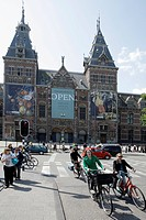 Rijksmuseum, art museum containing works by Rembrandt, Museumplein, Amsterdam, Netherlands, Europe