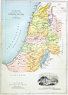 Canaan as it was divided between the twelve tribes of Israel  From The Holy Bible published by William Collins, Sons, & Company in 1869