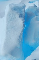 Blue reflections on ice floe in Antarctica, Antarctica, Southern Ocean