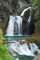 Arazas river waterfall, Spain, Pyrenees, Aragon, Ordesa National Park