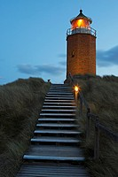 Leuchtturm / Quermarkenfeuer / Lighthouse / Rotes Kliff / Red Cliff / Kampen / Sylt / Deutschland / Germany