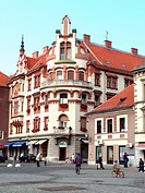 houses in the oldtown of Maribor, Slovenia