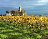 Baroque Church in autumn, Birnau, Bodensee 2002, Germany