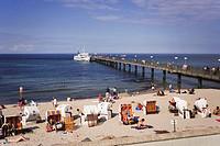 Germany, Mecklenburg_Vorpommern, Kühlungsborn, Beach and Pier