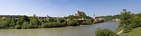 Germany, Upper Bavaria, Burghausen at river Salzach