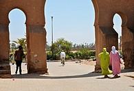 Maroc, Marrakech, Bab Aylen l´une des 19 portes qui entourent la ville