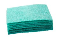 Close_up of a stack of scouring pads