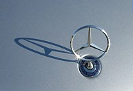 Mercedes logo on the hood of a car