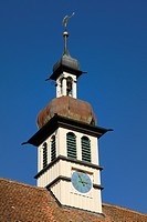 Church tower, St Bartholomew's Church, pilgrimage church in Hoedingen, Lake Constance area, Baden-Wuerttemberg, Germany, Europe