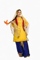 Woman in traditional Punjabi dress