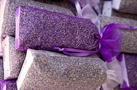 Lavender packed in bags for sale