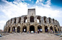 Arles, France, Exterior of the Arles antique Roman amphitheater's (thumbnail)