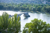 St. Benezet's Bridge over Rhone River, Avignon, Provence-Alpes-Cote d'Azur, France (thumbnail)