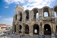 Arles, France, Exterior of the Arles antique Roman amphitheater´s
