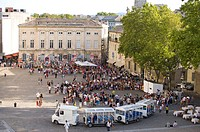 Plaza in Avignon, Provence_Alpes_Cote d'Azur, France