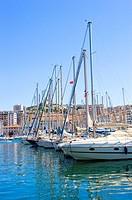 Vieux Port in Marseille, Provence_Alpes_Cote d´Azur, France