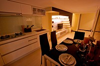 Modern Interior Design _ Dining Room in a Domestic Kitchen