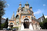 Russian Orthodox Cathedral, Nice, Cote d'Azur, Provence, France, Europe (thumbnail)