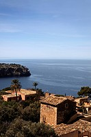 View of Lluc-Alcari on the northern coast of Majorca, Balearic Islands, Spain
