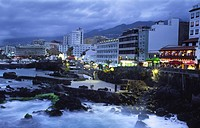 View at the Boulevard in San Telmo, Canary Islands, Tenerife, Puerto De La Cruz
