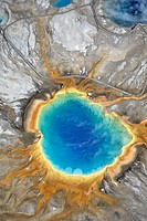 Aerial Photo, Grand Prismatic Spring, Yellowstone NP, Wyoming USA