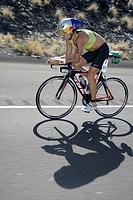 Triathlet Thomas Hellriegel GER , former world champion, during the Ironman World Championship in Kailua_Kona Hawaii USA