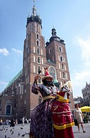 The LAJKONIK _ the symbol of Cracow, photo in front of the Virgin Mary Church, Poland