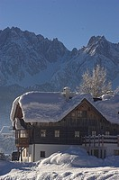 Traditional house in Gosau, Austria
