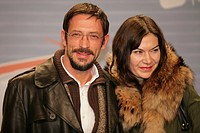 Oskar Roehler and Alexandra Fischer_Roehler, opening night of the movie Free Rainer _ dein Fernseher luegt by director Hans Weingartner, 03.11.2007, c...