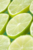 Slices of lime fruit