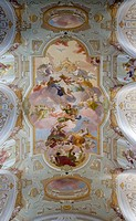 Fresco Paiting, Church of Pilgrim Sonntagberg, Mostviertel Region, Lower Austria, Austria