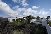 Former residence of artist and architect Cesar Manrique, museum, Fundacion Cesar Manrique, Taro de Tahiche, UNESCO Biosphere Reserve, Lanzarote, Canar...