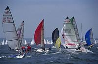 Sailing regatta, Kieler Woche, Foerde, Kiel, Schleswig Holstein, Germany