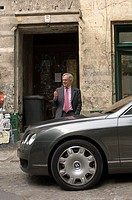 Corporate consultant Roland Berger and his Bentley
