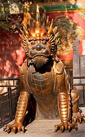 Dragon Bronze Statue With Hand on Ball Gugong, Forbidden City Emperor´s Palace Built in the 1400s in the Ming Dynasty