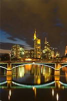 Frankfurt am Main at night, Germany, Frankfurt/Main