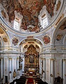 Interior of the Holy Trinity Church, Munich, Bavaria, Germany