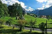 View over Wengen, Bernese Oberland, Switzerland