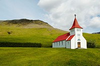 Iceland, church Skogafoss.