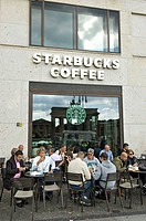 Starbucks at Brandenburg Gate, Berlin, Germany
