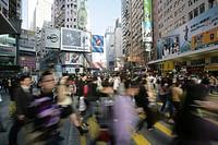 Pedestrian crossing, Hennessy Road, Wan Chai, Hong Kong Island, China