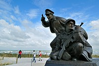 The U.S. Navy D_Day Monument near the Utah Beach Landing Museum at Sainte Marie du Mont, Normandy, France