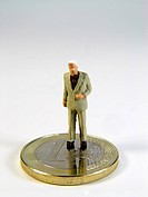 Symbolimage Businessman and Euro