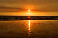 Australien Sunset over Cable Beach, Australia, Western Australia, Broome, Cable Beach