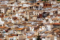 Village houses, Spain, Albacete, Castilla la mancha, Alcala del Jucar