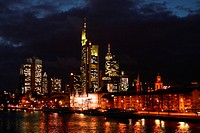 Skyline of Frankfurt, Germany, Hesse, Frankfurt/Main