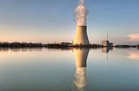 Isar Nuclear Power Plant, Ohu, in Essenbach near Landshut, Lower Bavaria, Bavaria, Germany, Europe
